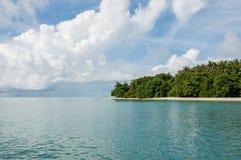 Insel mit Bäumen an Phangnga-Bucht Stockbilder