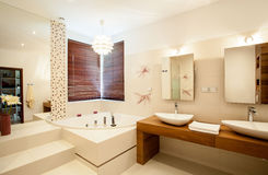 Inside the bathroom Royalty Free Stock Photography