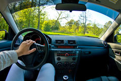 Inside of a Car Stock Images