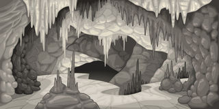 Inside the cavern. Stock Photo