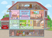 Inside the house Royalty Free Stock Image