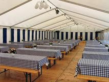 Inside a party tent Stock Images