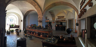 Inside the Pena Palace kitchen Stock Image