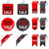 Insieme di elementi di vendita di Black Friday Fotografia Stock