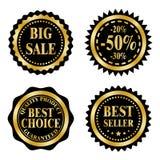 Insignes de vente sur le thème de Black Friday Photos libres de droits