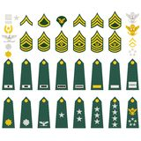 Insignia of the U.S. Army Royalty Free Stock Photos
