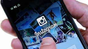 Instagram Arkivbild