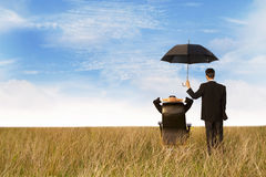The insurance agent protection Royalty Free Stock Photo