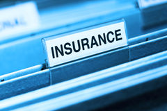 Insurance File Royalty Free Stock Photography