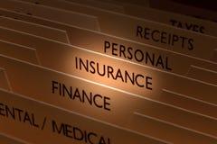 Insurance File Royalty Free Stock Image