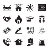 Insurance Icons Vector Illustration Set Stock Image