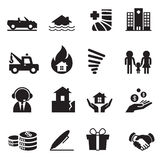 Insurance Icons Vector Illustration Set 2 Stock Photo