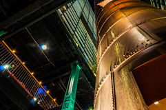 Interesting architecture in the Powerplant, Baltimore, Maryland. Stock Photos