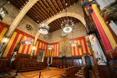 Interior of Barcelona's Town Hall, Barcelona, Spain Royalty Free Stock Image