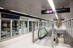 Interior of  metro station Gorg in Metro de Barcelona Royalty Free Stock Photos