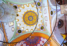 Interior of a turkish mosque Stock Photo