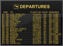 International Airport Departures Board Royalty Free Stock Image
