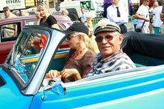 International antique motor vehicle rally 'Riga Retro' 2013 Stock Photography