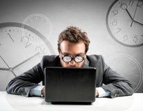 Internet addiction concept Stock Photos