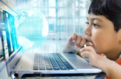 Internet boy Stock Images