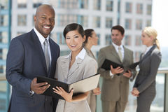 Interracial Men & Women City Business Team Stock Image