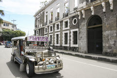 Intramuros jeepney cityscape manila philippines Royalty Free Stock Images