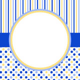 Invitation Card with a circle frame and polka dots Royalty Free Stock Images