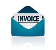 Invoice with envelope Royalty Free Stock Image