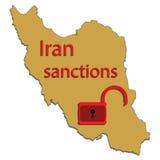 Iran map Stock Photos