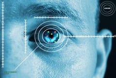 Iris eye scan Royalty Free Stock Images