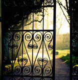 Iron fence Stock Photo