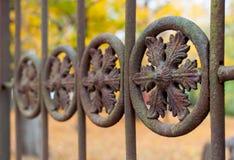 Iron fence detail macro Royalty Free Stock Photography