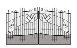 Iron gate. Architecture detail. Stock Photo
