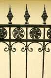 Iron gate details Stock Photos