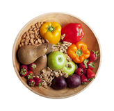 Isolated Healthy Paleo Foods in Bowl Royalty Free Stock Photo