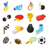 Isometrische Ikonen des Sports Stockbilder