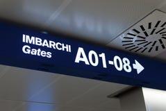 Italian Airport gates Stock Image