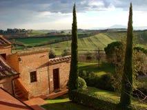 Italian country villa Tuscany Stock Photography