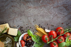Italian Food Background Stock Photography
