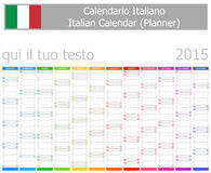 2015 Italian Planner Calendar with Vertical Months Royalty Free Stock Photography