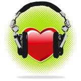 J'aime la musique Image stock
