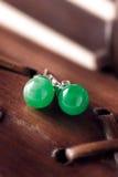 Jade Earrings Royalty Free Stock Photos