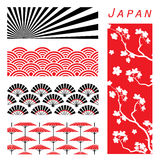 Japan Wallpaper Background Decorate Design Cartoon vector Stock Images