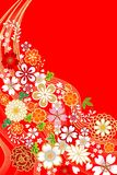 Japanese traditional floral Pattern Stock Image