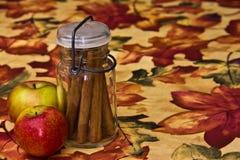 Jar of Cinnamon Sticks Stock Images