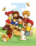 Jesus and children Royalty Free Stock Photos