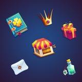 Jeux visuels de Web du monde d'éléments réglés mobiles doux de GUI Photographie stock