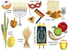 Jewish holidays icons Israeli holidays Stock Photos