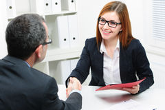 Job applicant having interview Royalty Free Stock Photo