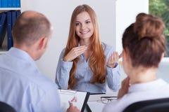 Job interview Stock Image
